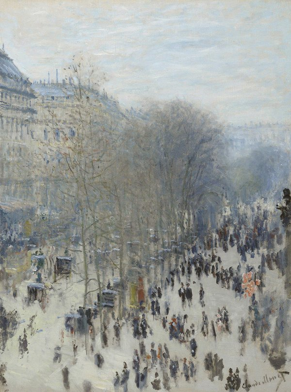 Winter Inspiration - Boulevard des Capucines by Claude Monet.jpg