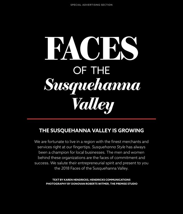 Faces of Susquehanna Valley 2018