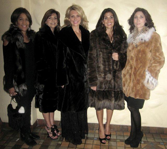 Wearing Mascalus Furs: Denise Saunders, Patsi Lilly, Kristen Wilhelm, Nyree Dardarian & Karen Uhlig