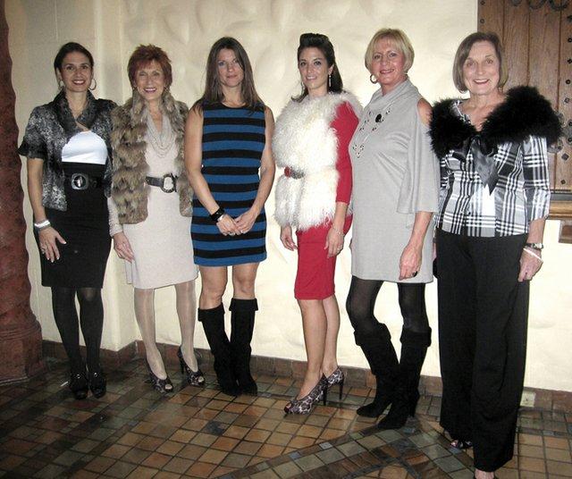Modeling for The Plum: Christina Papatsounis, Stephanie Sorensen, Kristin M., Danielle Popik, Tina Kepp & Kathy Straub