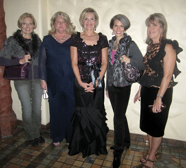 Wearing Creative Elegance: Carol Sollenberger, Kim Ortenzio-Nielson, Kitty Campbell, Karen Narvol & Sandy Foote