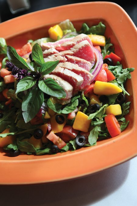 Ahi tuna salad from the cozy Tapenade Bistro