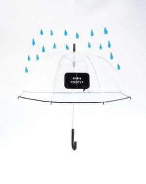 "Kate Spade ""Rain Check"" umbrella, $38, from Pappagallo."