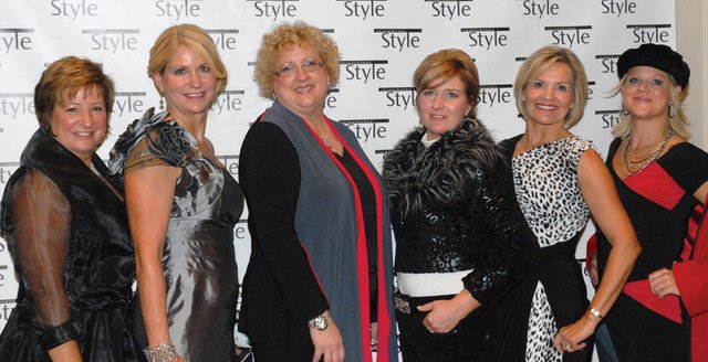 Wearing Creative Elegance are: Kathy Cadieux, Donna Reed, Ann Marie Gover, Judy Franklin, Kitty Campbell & Teague Wright