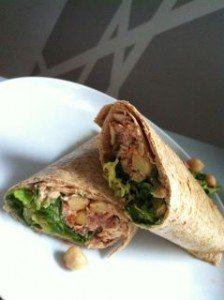 Spanish inspired tuna salad wraps with sherry vinaigrette