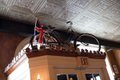 Bull's Head Public House: Yes, that's a bike above the door—vintage and donated by a loyal patron