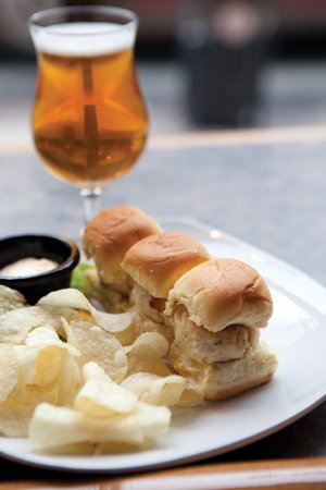 The Taproom's crab cake sliders