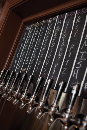 Bull's Head Public House features 14 regularly rotating taps