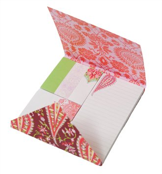 Amy Butler designer sticky notes ($17); The Sassy Tassel, Lititz (717-627-8688)
