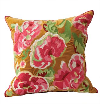 Crewel work pillow ($128); Details, Lancaster (717-397-5366)